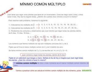 http://www3.gobiernodecanarias.org/medusa/eltanquematematico/todo_mate/multiplosydivisores/mcm/mcm_p.html