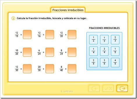 fraccin-irreducible