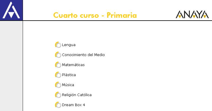 RECURSOS INTERACTIVOS ANAYA CUARTO DE PRIMARIA  