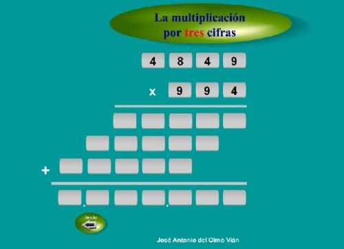 multiplicación 3 cifra